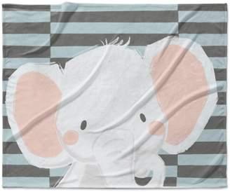 Kavka Elephant Fleece Blanket