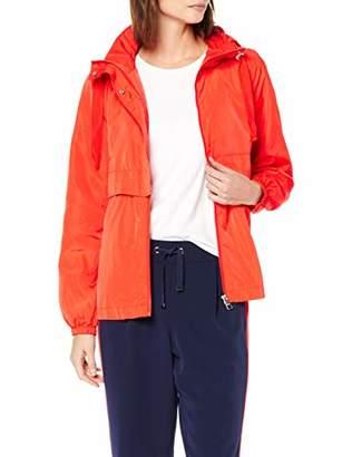 Tom Tailor Women's Wasser windabweisende Übergangsjacke in einem femininen und modernen Schnitt Jacket, (Bright red 15612)