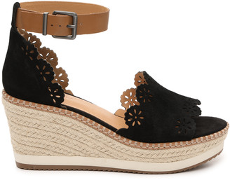 Crown Vintage Women's Dunja Wedges Sandals Black Size 5 Suede From Sole Society