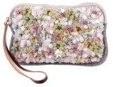 Marni Floral & Jeweled Embellishment Zip Pochette