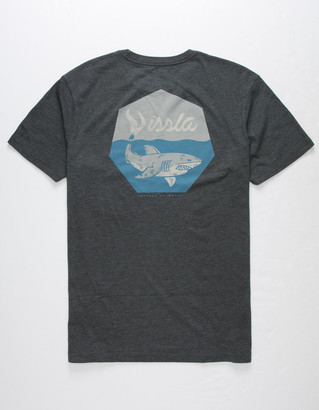 VISSLA In The Depths Heather Black Mens T-Shirt