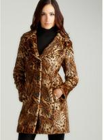 Gallery Faux Fur Animal Print Coat