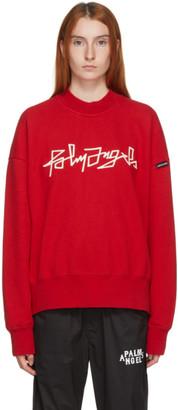 Palm Angels Red Desert Logo Sweatshirt