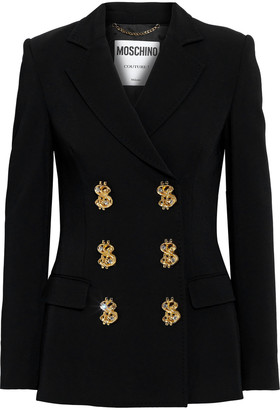 Moschino Double-breasted Crepe Blazer