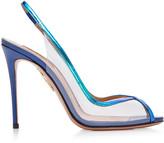 Aquazzura Temptation PVC Peep-Toe Heels