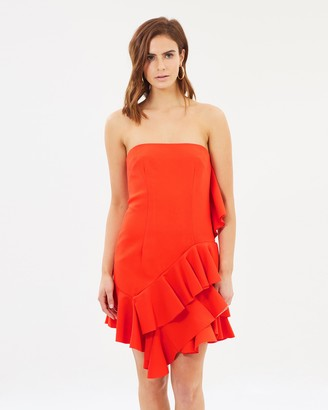 By Johnny. Lily Strapless Flounce Mini Dress