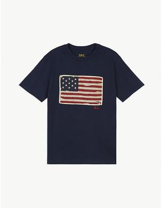 Ralph Lauren Flag logo cotton T-shirt 2-14 years