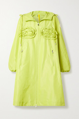 MONCLER GENIUS 4 Simone Rocha Agatea Hooded Ruffled Shell Jacket - Lime green