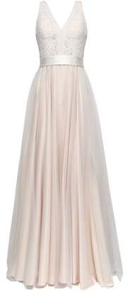Catherine Deane Pleated Guipure Lace And Tulle Bridal Gown