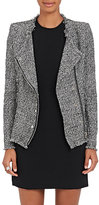 IRO Women's Carlota Collarless Cotton-Blend Jacket-BLACK, WHITE, NO COLOR