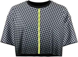 ULTRACOR geometric-print cropped T-shirt