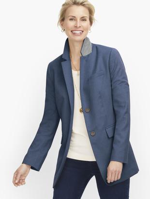Talbots Long Wool Blend Blazer - Brushed Wool