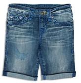 True Religion Boys' Geno Faded Cuffed Shorts - Big Kid