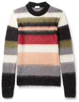 Saint Laurent Striped Mohair-Blend Sweater