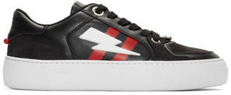 Neil Barrett Black Pierced Modernist Ultra-L Sneakers