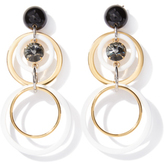 Marni Earrings Circles with Strass