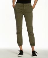 Vigoss Women's Casual Pants OLIVE - Olive Zipper Skinny Cargo Pants - Women & Plus