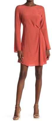 NSR Long Sleeve Twist Front Dress
