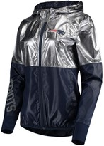 G Iii Women's G-III 4Her by Carl Banks Pewter New England Patriots Scrimmage Full-Zip Jacket