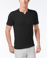 INC International Concepts Men's Soft Touch Split-Neck T-Shirt, Only at Macy's