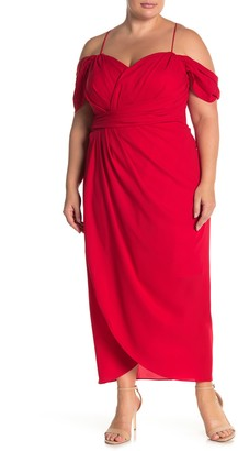 City Chic Entwine Cold Shoulder Maxi Dress (Plus Size)