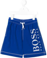 Boss Kids logo print track shorts