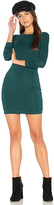 Blq Basiq Mini Long Sleeve Dress in Green