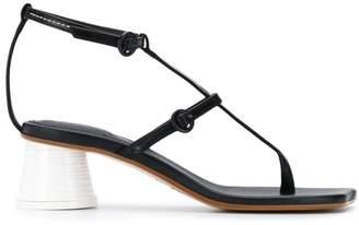 MM6 MAISON MARGIELA strappy block heel sandals
