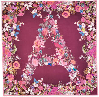 Aspinal of London Ombre A Floral Silk Scarf