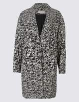 Marks and Spencer Cotton Rich Animal Print Coat