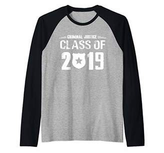 Justice 2019 Criminal Graduation Gift Criminal Major Raglan Baseball Tee