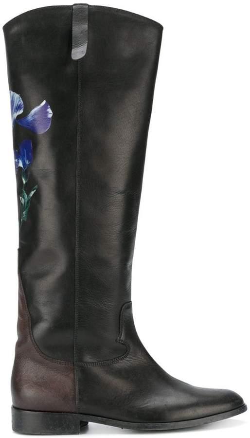Golden Goose floral knee-length boots