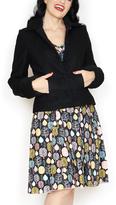 Black Kitten Wool Jacket - Plus Too