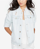 Rachel Roy Ripped Denim Jacket, Created for Macy's