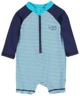 Bebe Baby Boys Jay Stripe Long Sleeve Sunsuit