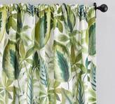 Pottery Barn Palm Print Curtain