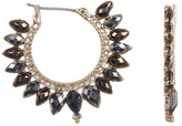 Jenny Packham Crystal & Stone Hoop Earrings