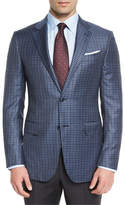 Ermenegildo Zegna Check Two-Button Sport Coat, Gray