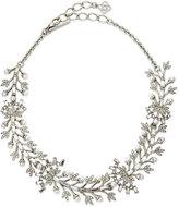 Oscar de la Renta Crystal Baguette Leaf Necklace