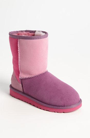 UGG 'Classic Short - Patchwork' Boot (Walker, Toddler, Little Kid & Big Kid)