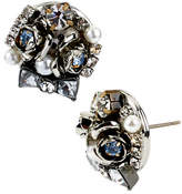 Betsey Johnson Bow And Flower Cluster Round Stud Earring