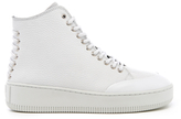 McQ by Alexander McQueen Women's Netil Laced Eyelets Leather HiTop Trainers - White