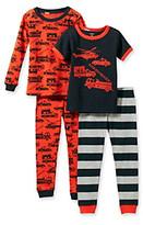 Carter's Boys' 12M-7 Red/Black 4-pc. Rescue Printed Pajama Set