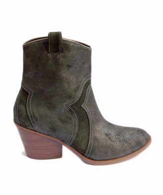 Gaimo Green 148 Bunny Baby Silk Ankle Boot - 38