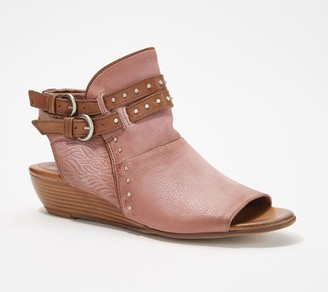 Miz Mooz Leather Buckle Demi-Wedges - Floyd
