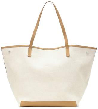 The Row Park XL canvas and leather tote