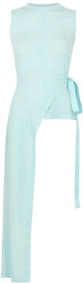 Rosetta Getty Aqua Asymmetric Cotton Top