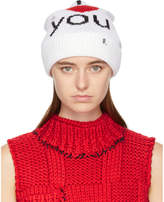 Raf Simons White 'I Love You' Beanie