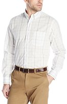 Dockers Long-Sleeve No-Wrinkle Multi Grid Men's Button-Down Collar Shirt