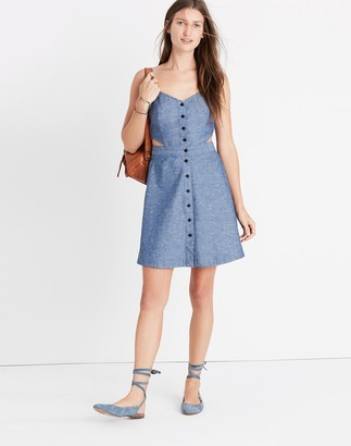 Madewell Chambray Cutout Cami Mini Dress